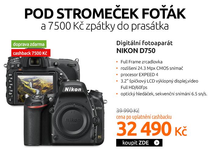 Fotoaparát zrcad. Nikon D750