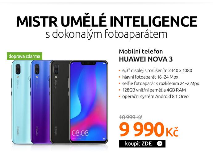 Mobilní telefon Huawei nova 3