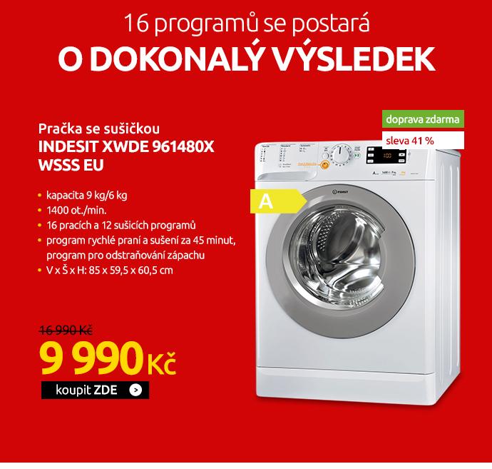 Pračka se sušičkou Indesit XWDE 961480X WSSS EU