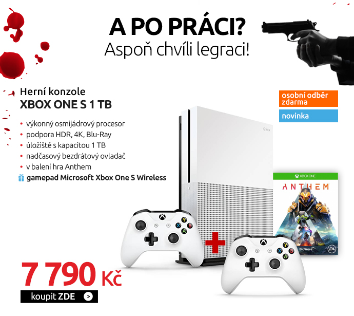 Herní konzole Xbox One S 1 TB