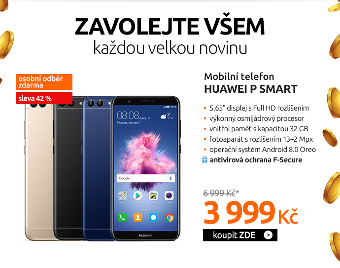 Mobilní telefon Huawei P smart