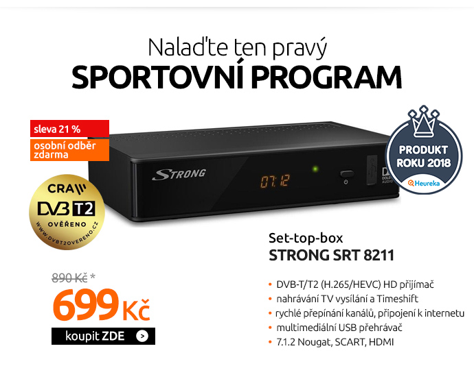 DVB-T/T2 set-top-box Strong SRT 8211