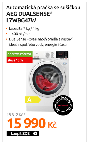 Automatická pračka se sušičkou AEG Dualsense® L7WBG47W