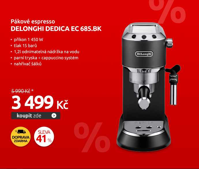 Pákové espresso DeLonghi DEDICA EC 685.BK