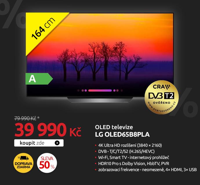 OLED televize LG OLED65B8PLA