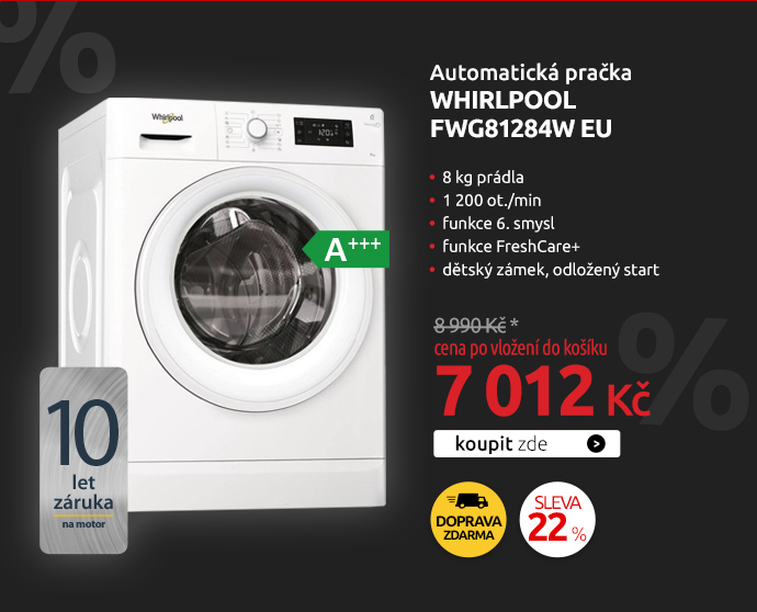 Automatická pračka Whirlpool FWG81284W EU