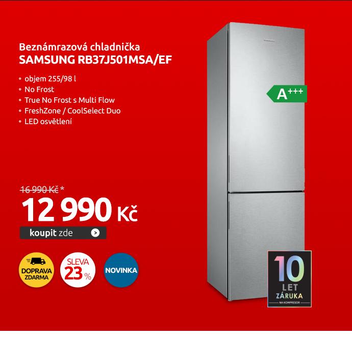 Beznámrazová chladnička Samsung RB37J501MSA/EF