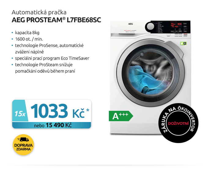 Automatická pračka AEG ProSteam® L7FBE68SC