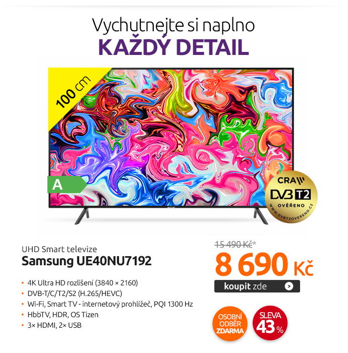 UHD Smart televize Samsung UE40NU7192