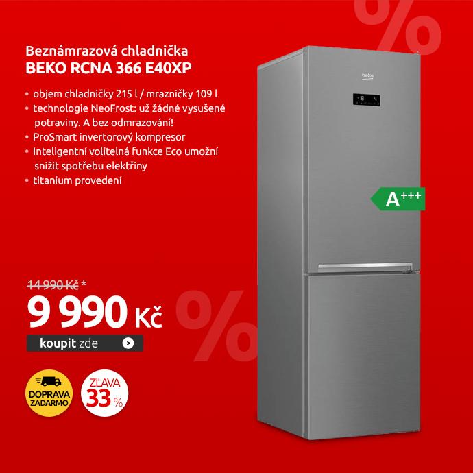 Beznámrazová chladnička Beko RCNA 366 E40XP