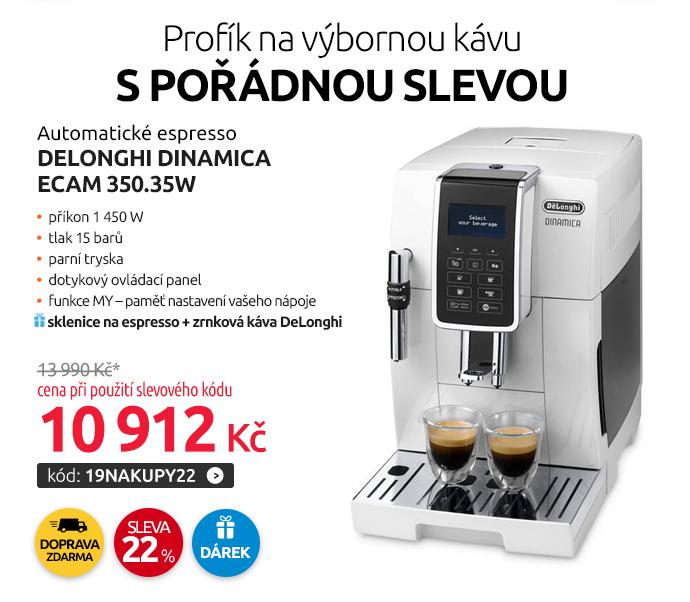 Automatické espresso DeLonghi Dinamica ECAM 350.35W