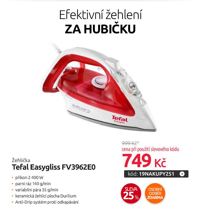 Žehlička Tefal Easygliss FV3962E0