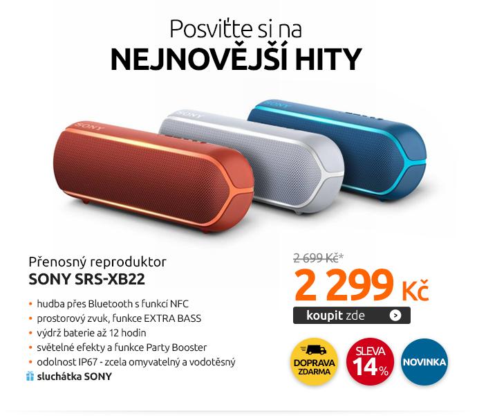 Přenosný reproduktor Sony SRS-XB22