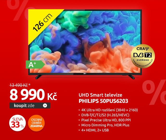 UHD Smart televize Philips 50PUS6203