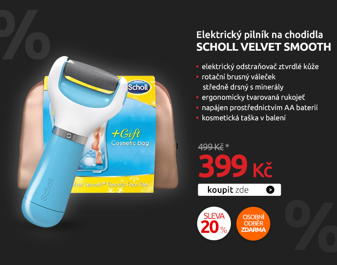 Elektrický pilník na chodidla Scholl Velvet Smooth