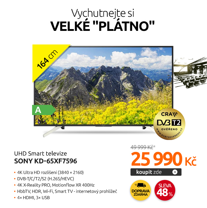 UHD Smart televize Sony KD-65XF7596