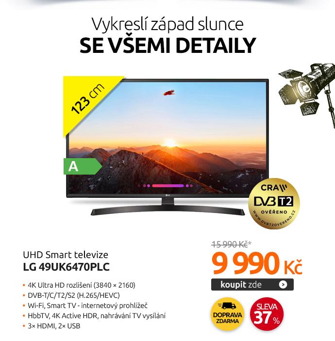 UHD Smart televize LG 49UK6470PLC