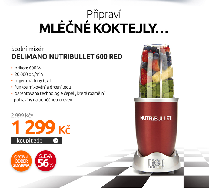 Stolní mixér Delimano NUTRIBULLET 600 Red