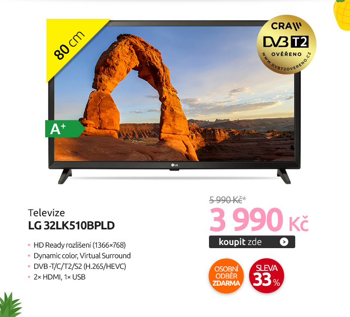 LG televize 32LK510BPLD
