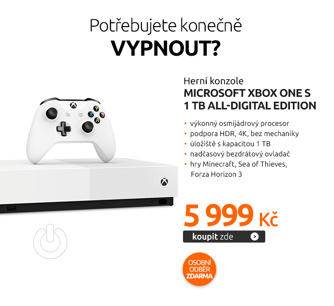 Herní konzole Microsoft Xbox One S 1 TB All-Digital Edition