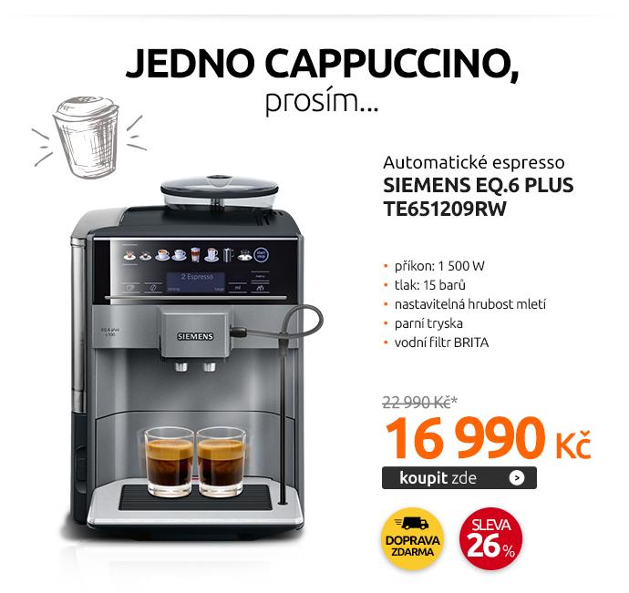 Automatické espresso Siemens EQ.6 plus TE651209RW
