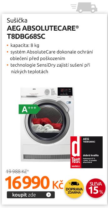 Sušička AEG AbsoluteCare® T8DBG68SC