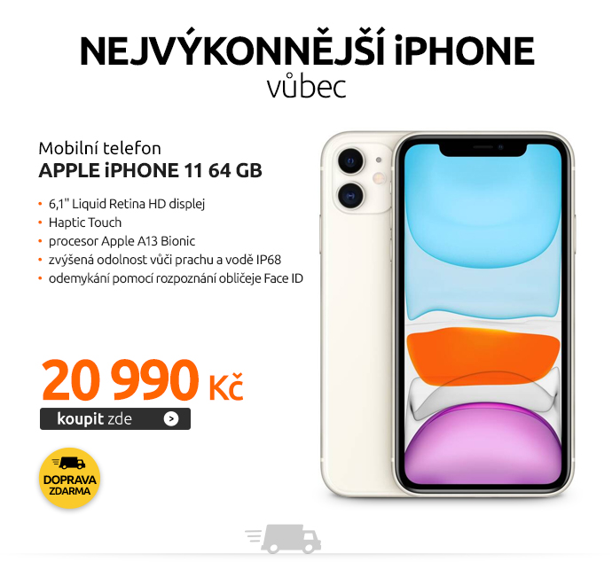 Mobilní telefon Apple iPhone 11 64 GB – White