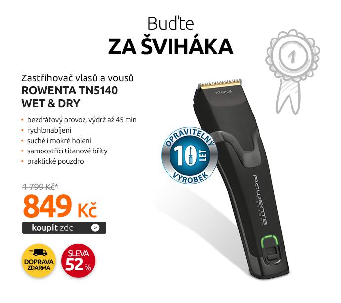 Zastřihovač vlasů a vousů Rowenta TN5140 Wet & Dry