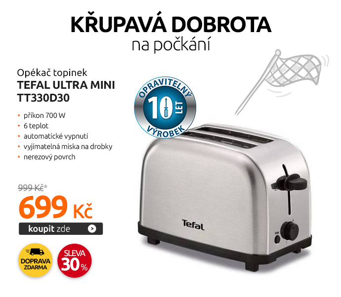 Opékač topinek Tefal ULTRA MINI TT330D30